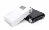 Power Bank 12000mAh Pantalla LED, Doble USB y Linterna